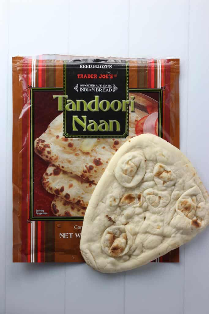 Trader Joe's Tandoori Naan bag with one naan