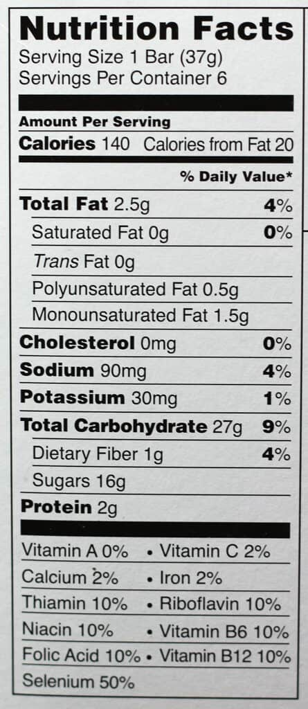Trader Joe's This Blueberry Walks Into A Bar nutritional information