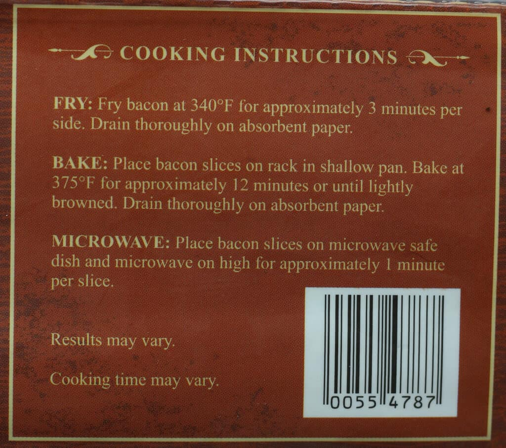 Trader Joe's Uncured Dry Rubbed Sliced Bacon directions