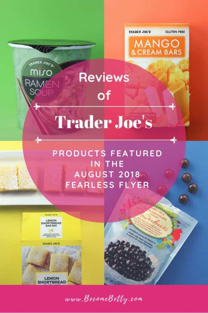 Trader Joe's August 2018 Fearless Flyer Matchups