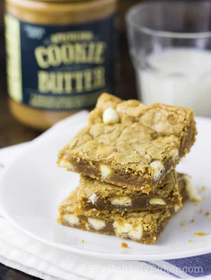 Soft and Chewy Cookie Butter Blondies