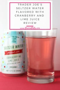 Trader Joe's Seltzer Water flavored with Cranberry and Lime Juice review