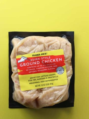 Trader Joe's Asian Style Ground Chicken package