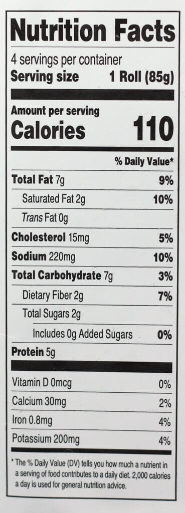 Trader Joe's Beef Cabbage Rolls nutritional information