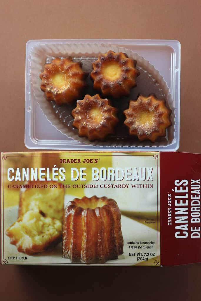 Trader Joe's Canneles De Bordeaux out of the box