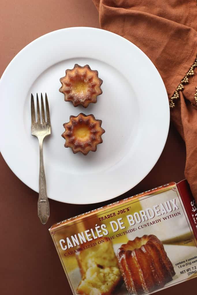 Trader Joe's Canneles De Bordeaux plated