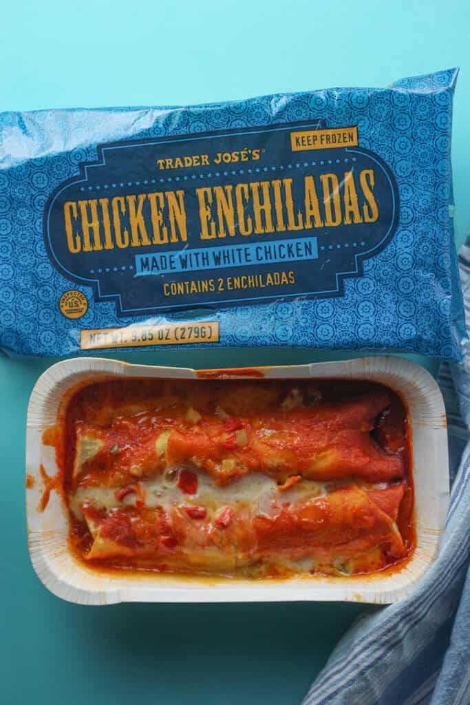 Trader Joe's Chicken Enchiladas fully cooked