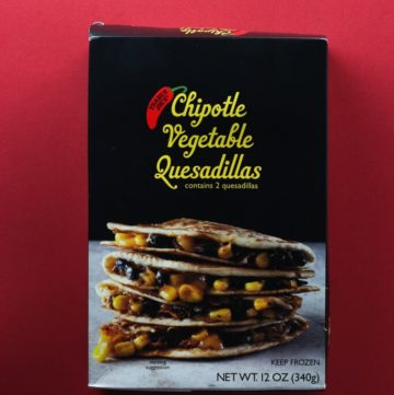Trader Joe's Chipotle Vegetable Quesadillas box