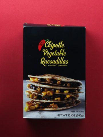 Trader Joe's Chipotle Vegetable Quesadillas box