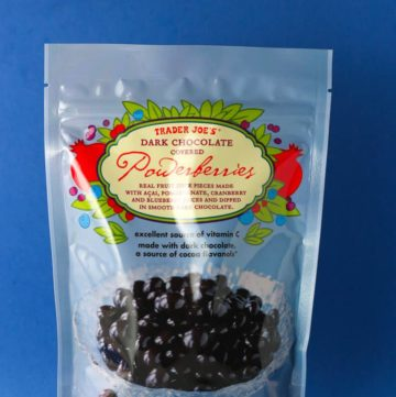 Trader Joe's Dark Chocolate Covered Powerberries bag