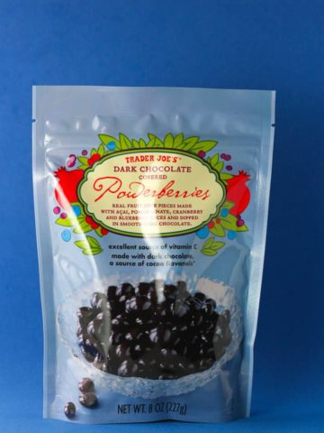 Trader Joe's Dark Chocolate Covered Powerberries bag