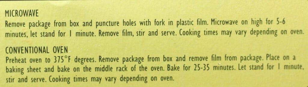 Trader Joe's Diner Mac and Cheese directions
