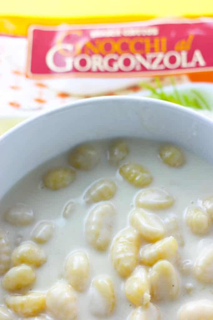 Trader Joe's Gnocchi al Gorgonzola close up