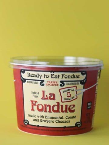 Trader Joe's La Fondue container