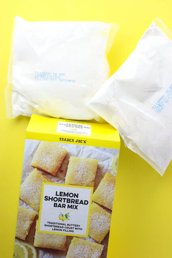 Trader Joe's Lemon Shortbread Bar Mix what is in the box