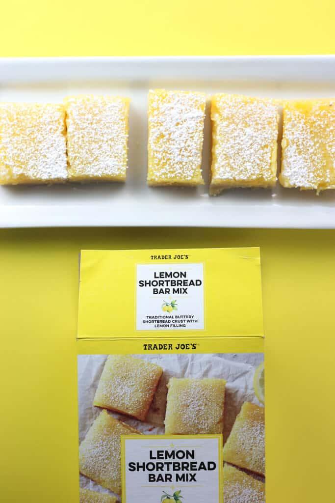 Trader Joe's Lemon Shortbread Bar Mix fully baked