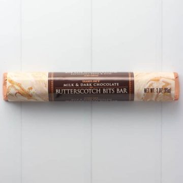Trader Joe's Milk and Dark Chocolate Butterscotch Bits Bar