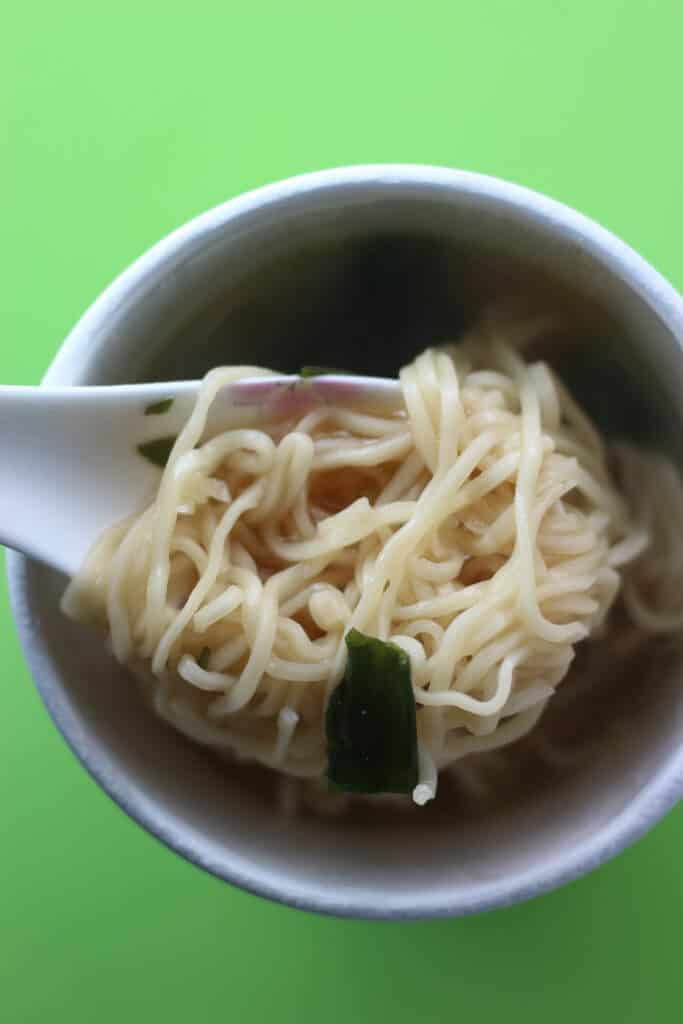 Trader Joe's Miso Ramen Soup fully cooked
