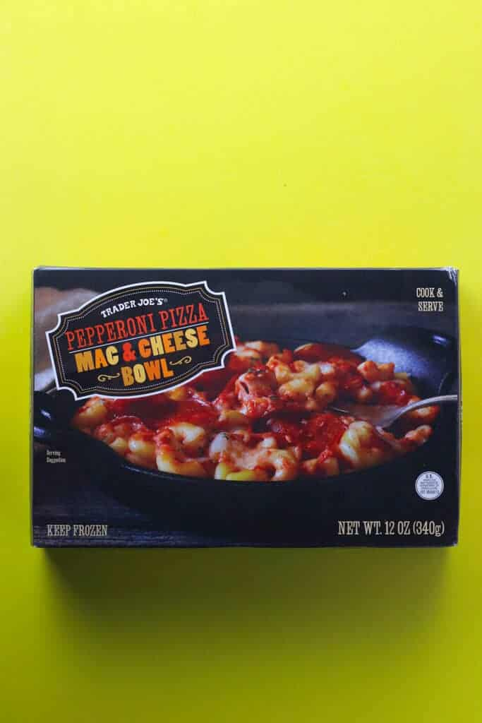 Trader Joe's Pepperoni Mac and Cheese Bowl