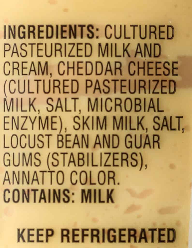 Trader Joe's Pub Cheese ingredients