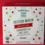 Trader Joe's Seltzer Water flavored with Cranberry and Lime Juice box