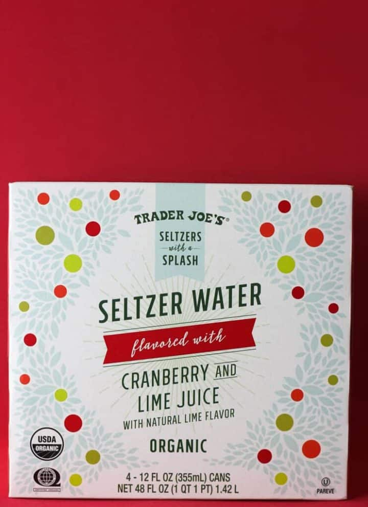 Trader Joe's Seltzer Water flavored with Cranberry and Lime Juice