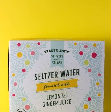 Trader Joe's Seltzer Water with Lemon and Ginger Juice