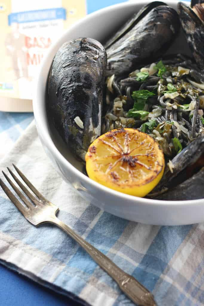 Trader Joe's Squid Ink Spaghetti