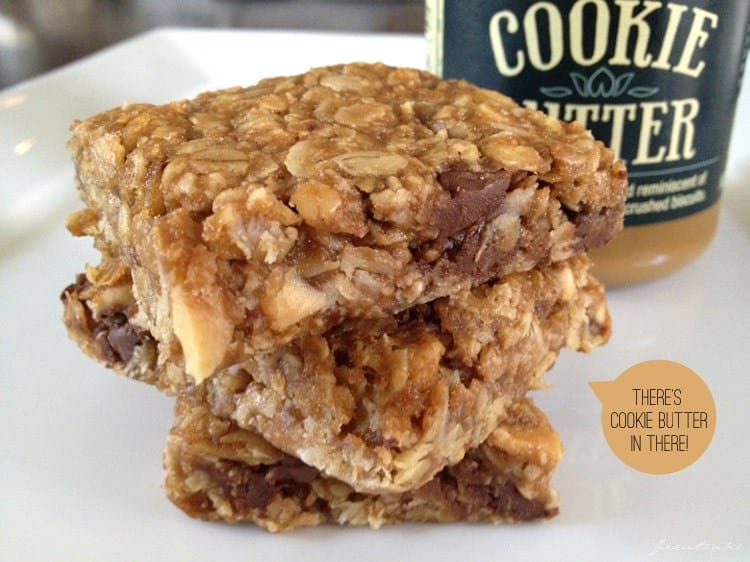 Cookie Butter Granola Bars
