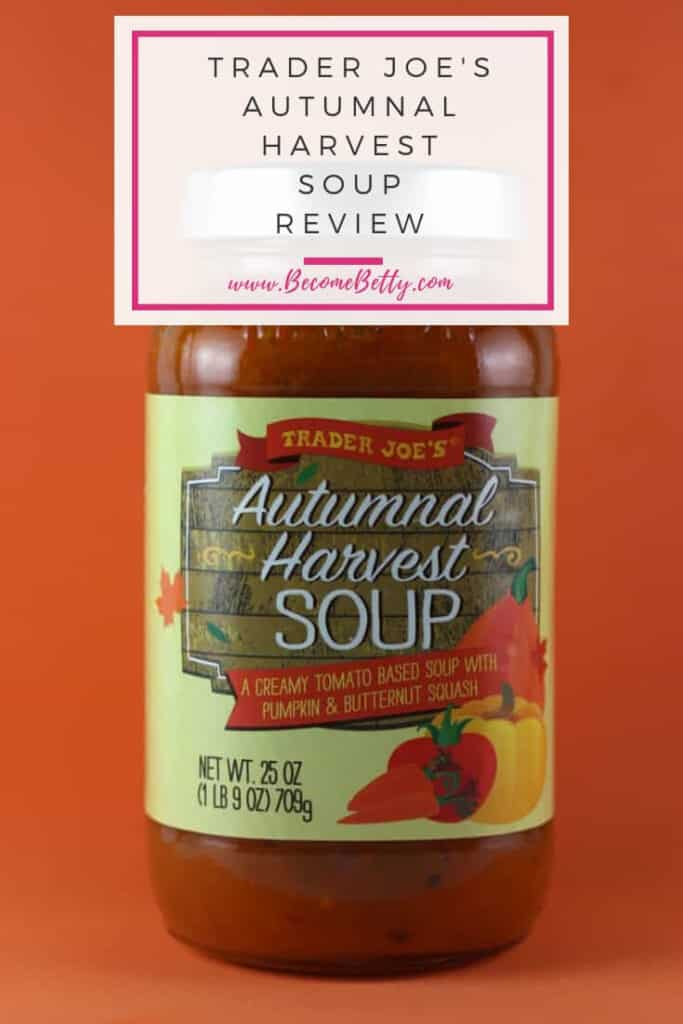 Trader Joe's Autumnal Harvest Soup review