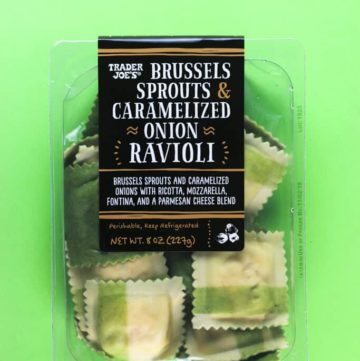 Trader Joe's Brussels Sprouts and Caramelized Onion Ravioli