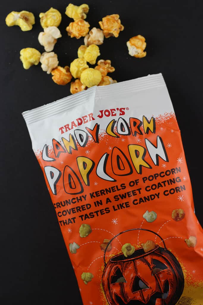 Trader Joe's Candy Corn Popcorn out of the bag