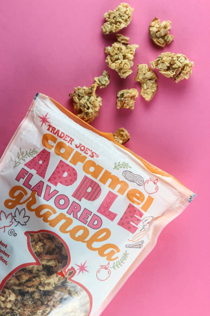 Trader Joe's Caramel Apple Flavored Granola out of the package