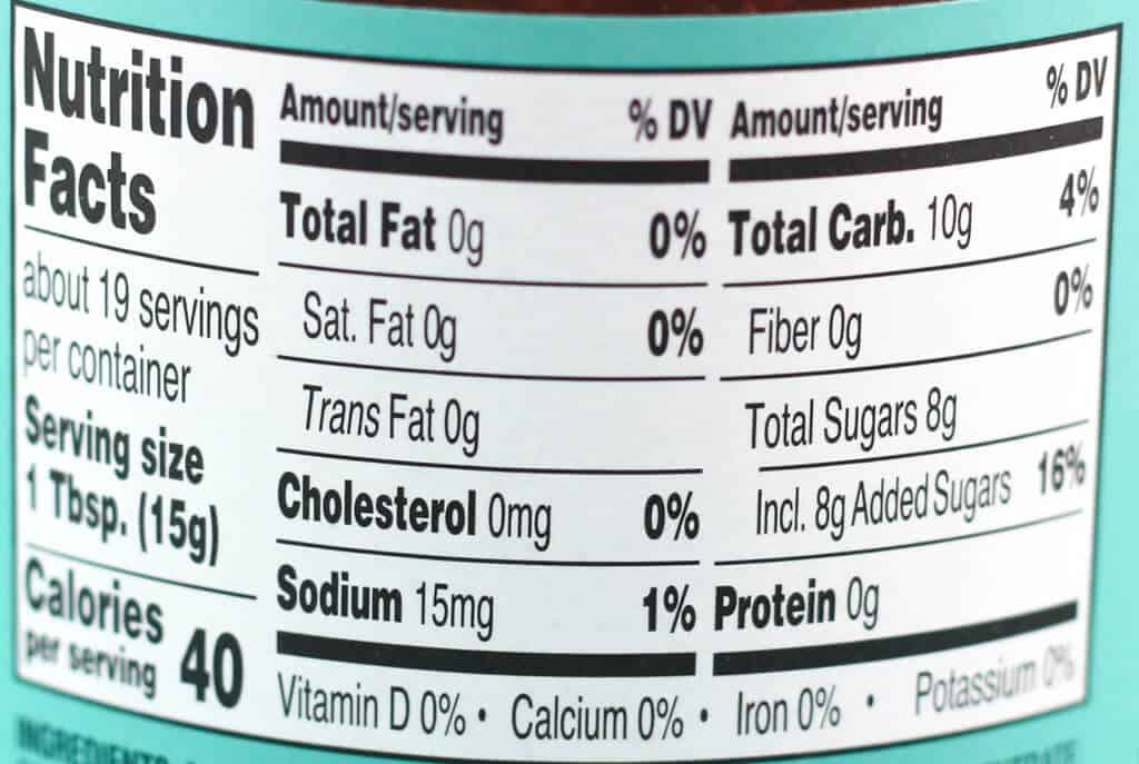 Trader Joe's Carrot Cake Spread nutritional information