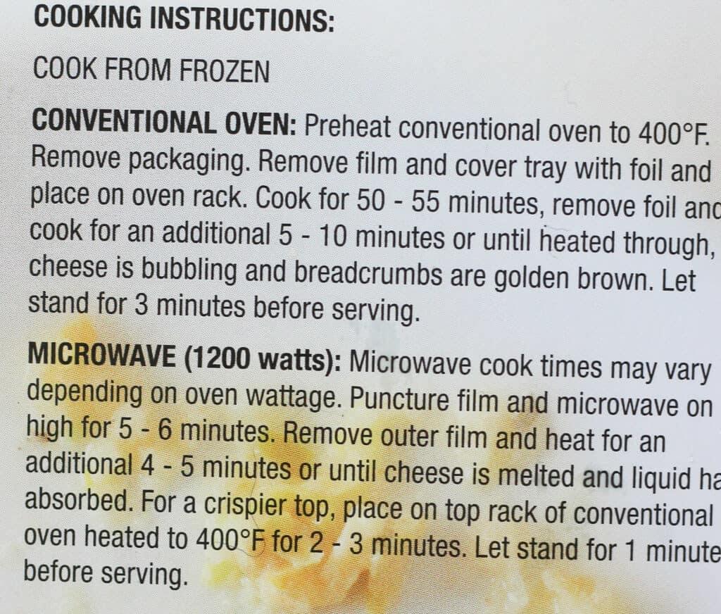 Trader Joe's Cheesy Spaghetti Squash Casserole directions