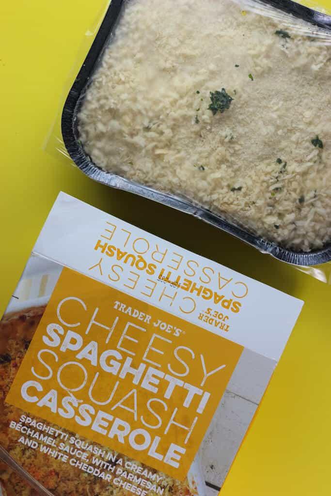 Trader Joe's Cheesy Spaghetti Squash Casserole out of the box