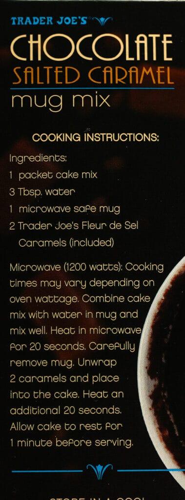 Trader Joe's Chocolate Salted Caramel Mug Mix directions