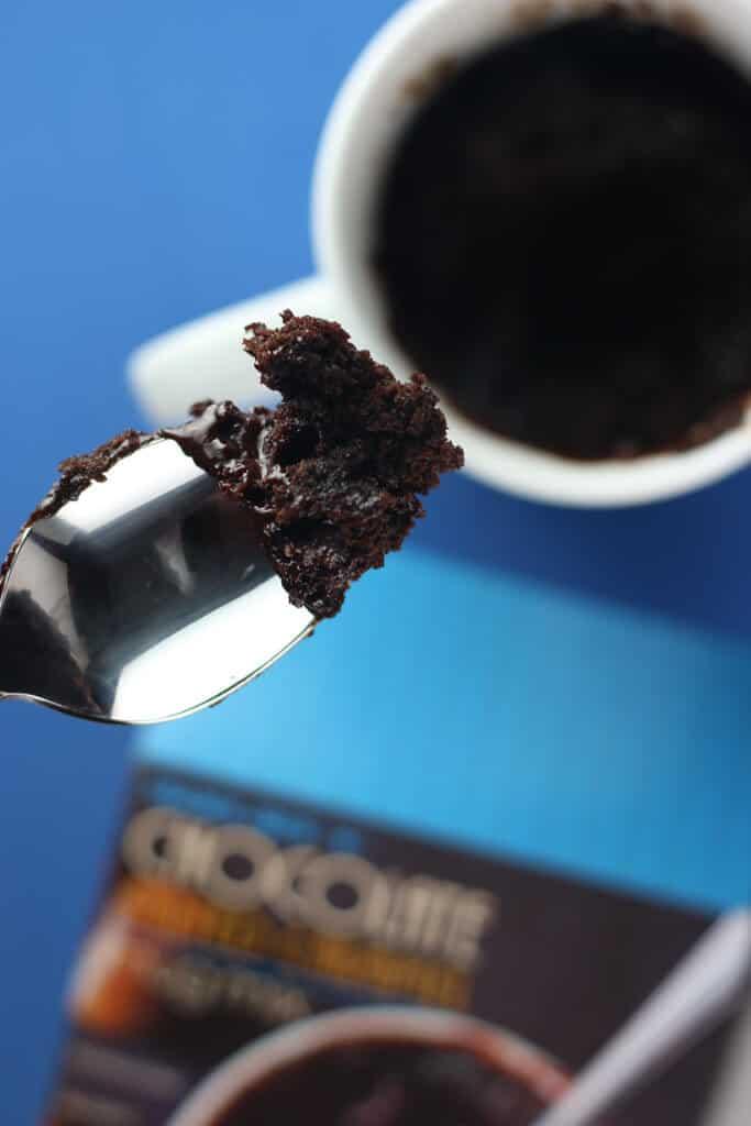 Trader Joe's Chocolate Salted Caramel Mug Mix fully cooked