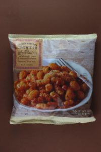 An unopened bag of Trader Joe's Gnocchi alla Sorrentina