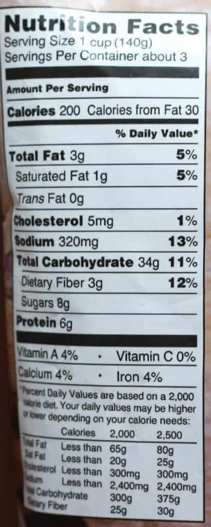 Trader Joe's Gnocchi alla Sorrentina nutritional information