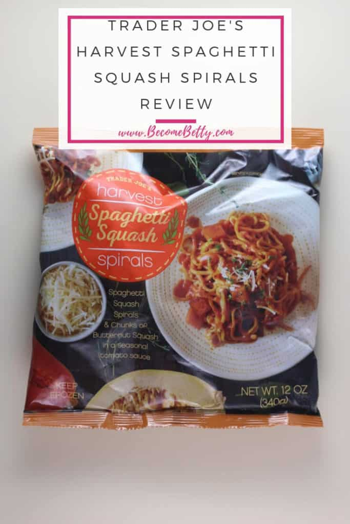 Trader Joe's Harvest Spaghetti Squash Spirals review