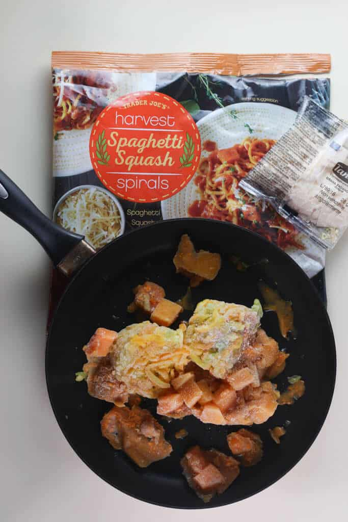 Trader Joe's Harvest Spaghetti Squash Spirals out of the bag