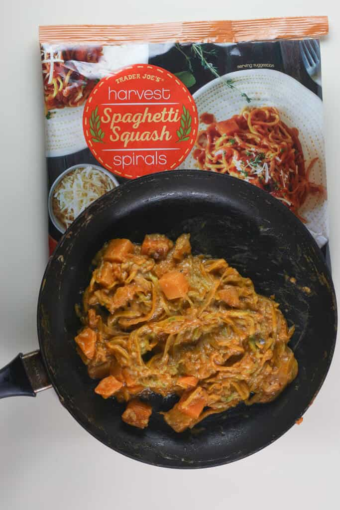 Trader Joe's Harvest Spaghetti Squash Spirals fully cooked