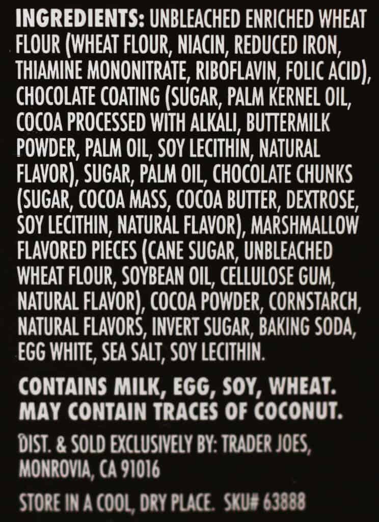 Trader Joe's Hot Cocoa Dunkers ingredients