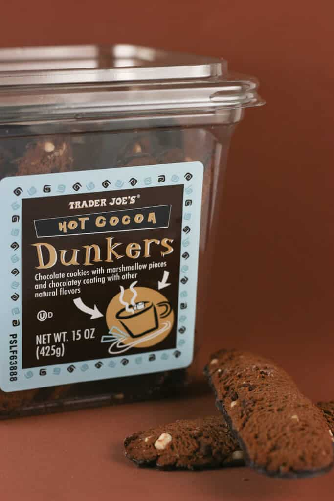 Trader Joe's Hot Cocoa Dunkers out of the box