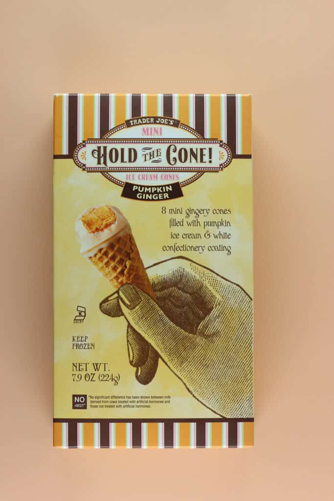Trader Joe's Mini Hold the Cone Pumpkin Ginger Ice Cream Cones