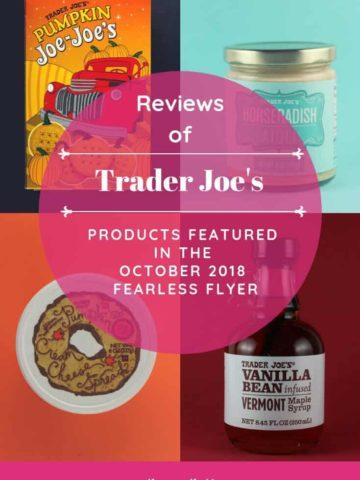 Trader Joe's October 2018 Fearless Flyer Roundup
