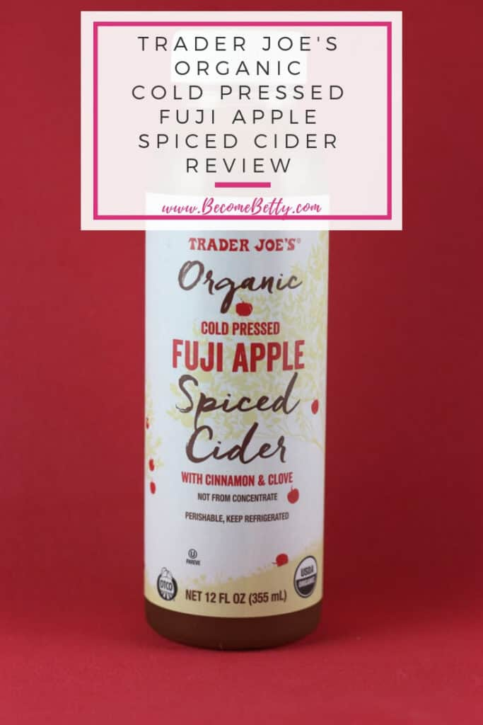 Trader Joe's Organic Cold Pressed Fuji Apple Spiced Cider