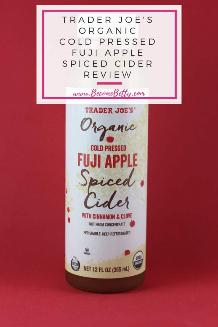 Trader Joe's Organic Cold Pressed Fuji Apple Spiced Cider review