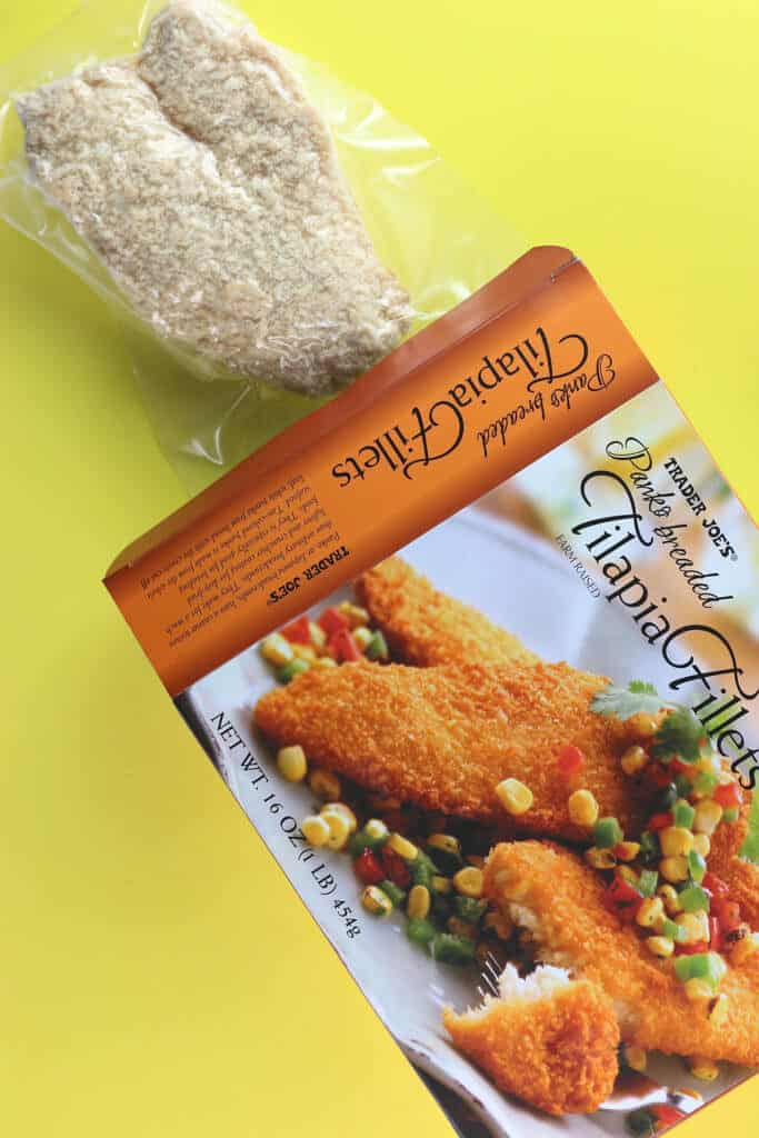 Trader Joe's Panko Breaded Tilapia Fillets out of the box